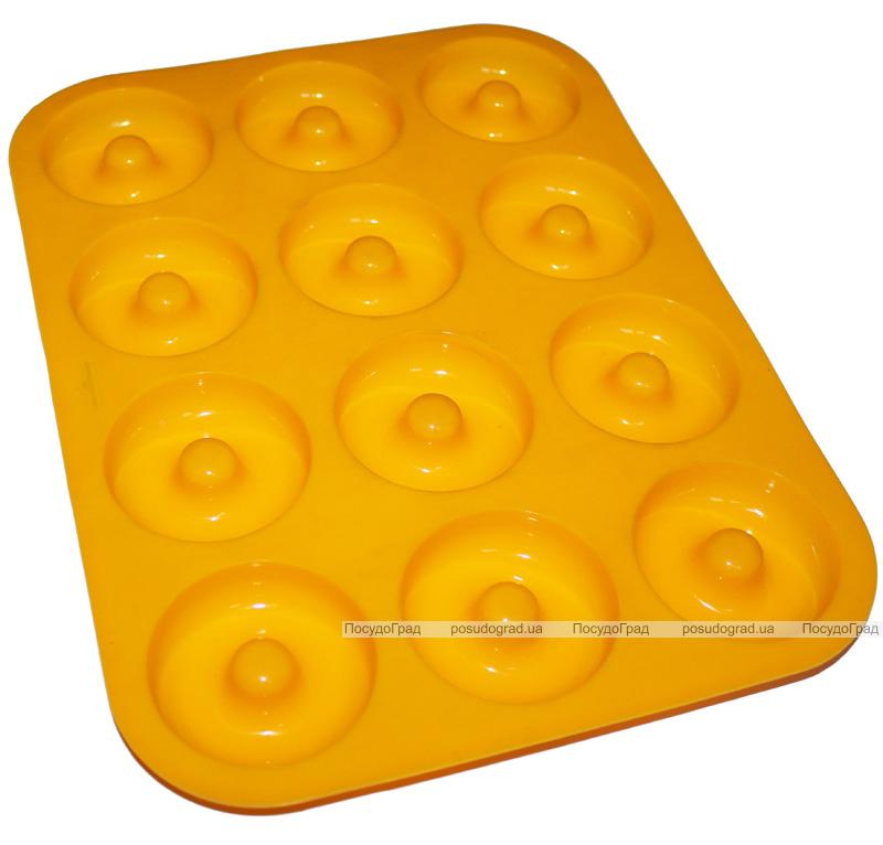 """Форма силиконовая Hauser """"12 пончиков"""" для выпечки"""