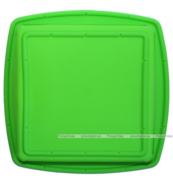 Форма силиконовая Hauser прямоугольная 28x27см противень с ручками