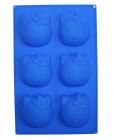 Форма силиконовая для выпечки Hello Kitty планшет 6 маффинов