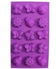 """Форма силіконова Hauser """"Лужок"""" для випічки печива і маффінів 15 комірок"""