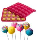 Силиконовая форма для Кейк Попсов (CAKE POPS) 23х19см 20 ячеек