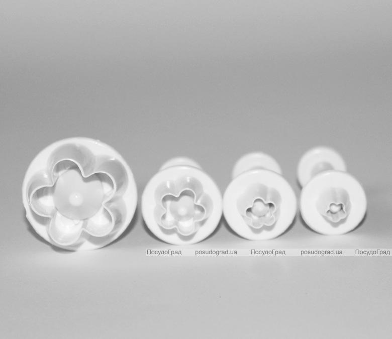 "Набор плунжеров для мастики ""Цветок с 5 лепестками"" 4 размера"