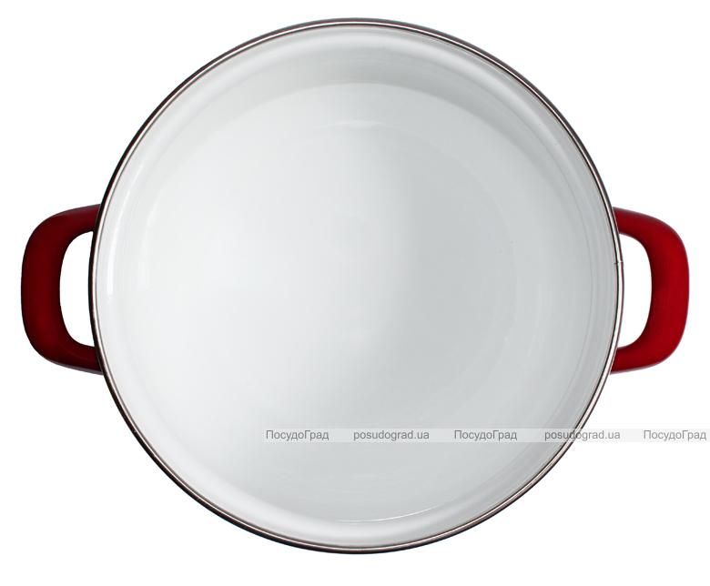 """Набор эмалированных кастрюль """"Bon Appetit"""" 3 кастрюли со стеклянными крышками"""