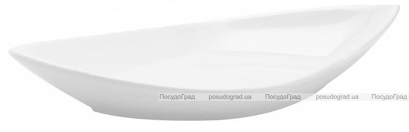 Набор 6 сервировочных блюд Helfer Лодочка 30х16см белые, фарфор
