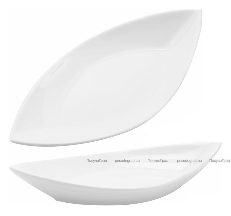 Набор 4 сервировочных блюда Helfer Лодочка 25х13см белые, фарфор