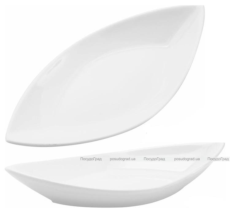 Набор 4 сервировочных блюда Helfer Лодочка 36х18см белые, фарфор