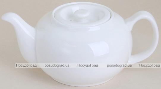 Набор 2 заварочных чайника Helfer 1000мл белые, фарфор