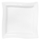 Набор 6 квадратных тарелок Helfer 20х20см белые, фарфор