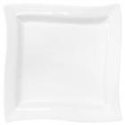 Набор 6 квадратных тарелок Helfer 25х25см белые, фарфор