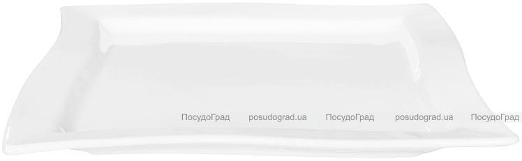 Набор 4 сервировочных блюда Helfer 30х30см белые, фарфор