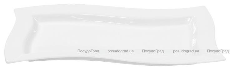 Набор 4 сервировочных блюда Helfer 26х12см белые, фарфор
