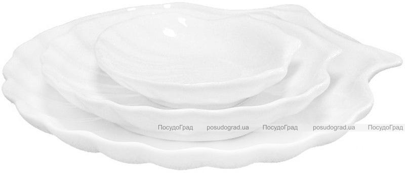 """Набор 6 сервировочных блюд """"Ракушка"""" Helfer Ø19см белые, фарфор"""