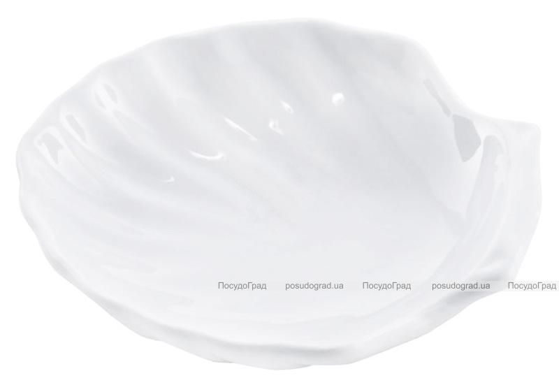 """Набор 12 сервировочных блюд """"Ракушка"""" Helfer Ø10см белые, фарфор"""
