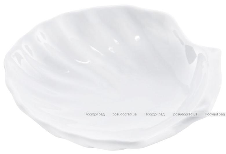 """Набор 6 сервировочных блюд """"Ракушка"""" Helfer Ø15см белые, фарфор"""