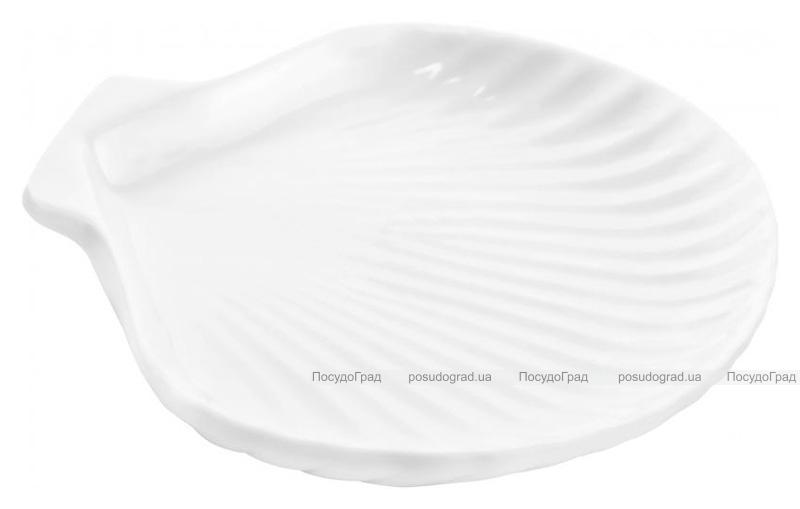 """Набор 8 сервировочных блюд """"Ракушка"""" Helfer 15х11см белые, фарфор"""