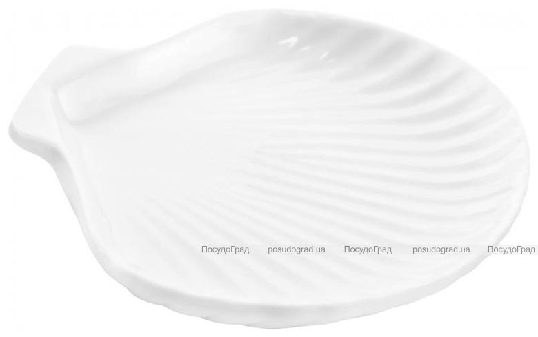"""Набор 6 сервировочных блюд """"Ракушка"""" Helfer 21х16см белые, фарфор"""