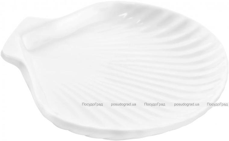 """Набор 6 сервировочных блюд """"Ракушка"""" Helfer 26х19см белые, фарфор"""