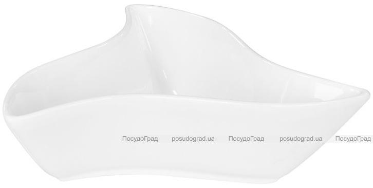 Набор 6 салатников Helfer треугольных Ø15см белые, фарфор
