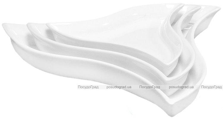 Набор 6 фигурных блюд Helfer Ø24см белые, фарфор
