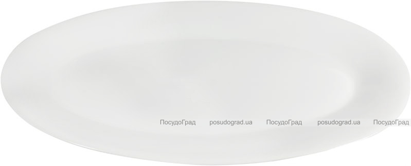 Набор 2 больших сервировочных блюда Helfer 57х25см белые, фарфор