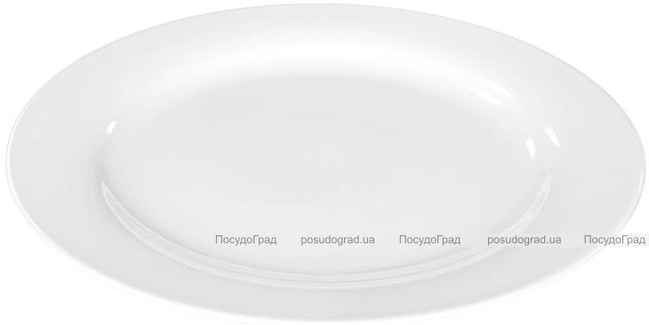 Набор 4 сервировочных блюда Helfer Ø30см белые, фарфор