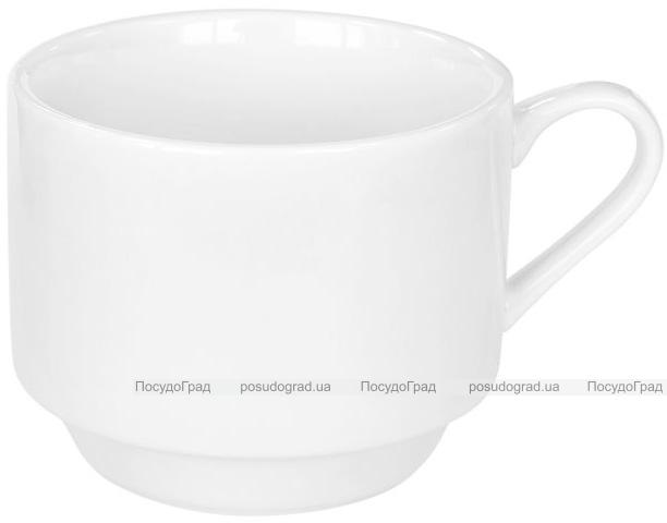 Набор 6 чашек Helfer 220мл (Ø8.5х7см) белые, фарфор