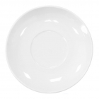 Набор 8 блюдец под чашку 220мл Helfer Ø11.5см белые, фарфор