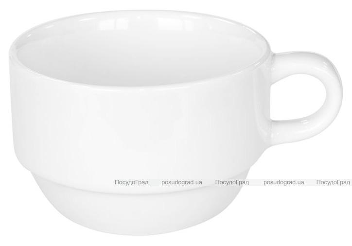 Набор 12 чашек кофейных Helfer 120мл (Ø7.2х4.8см) белые, фарфор