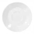 Набор 12 блюдец под чашку для эспрессо 80мл Helfer Ø13см белые, фарфор