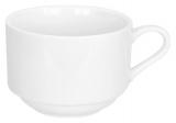 Набір 6 чашок Helfer 160мл (Ø8х6см) білі, фарфор