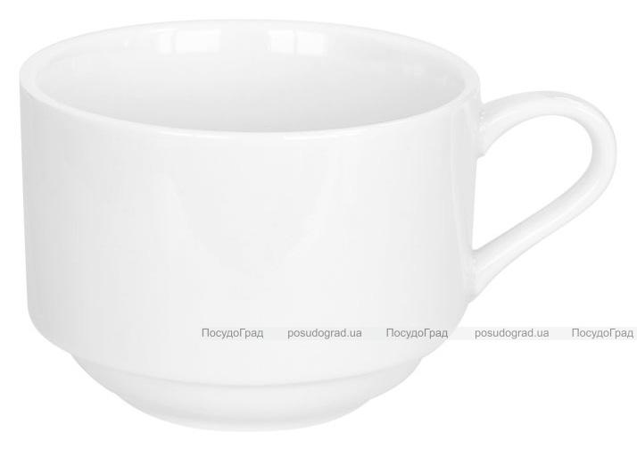 Набор 6 чашек Helfer 160мл (Ø8х6см) белые, фарфор