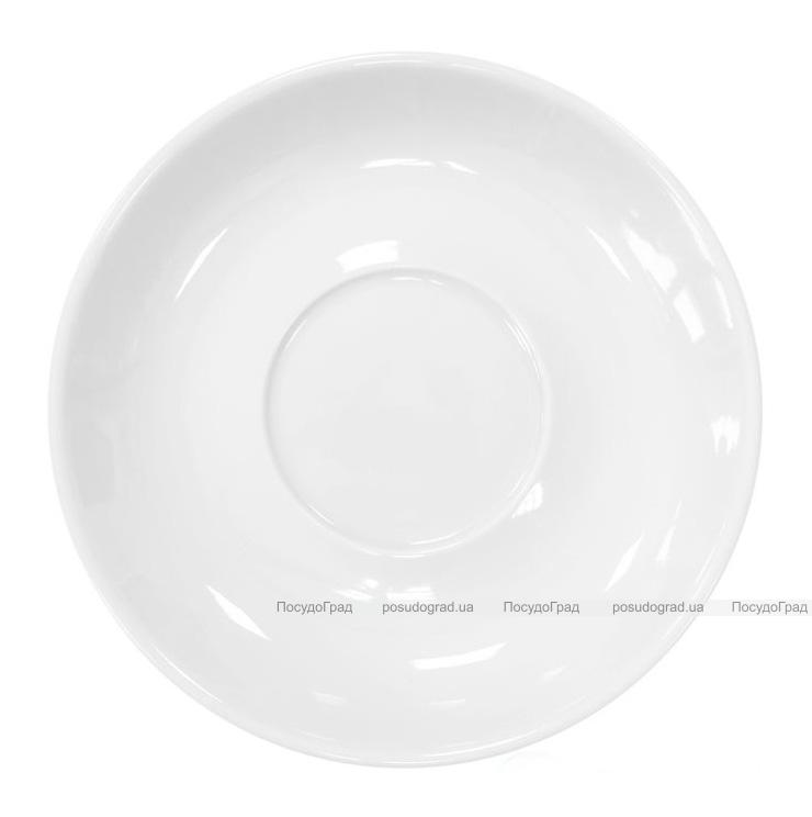 Набор 6 блюдец под чашку Helfer Ø13см белые, фарфор