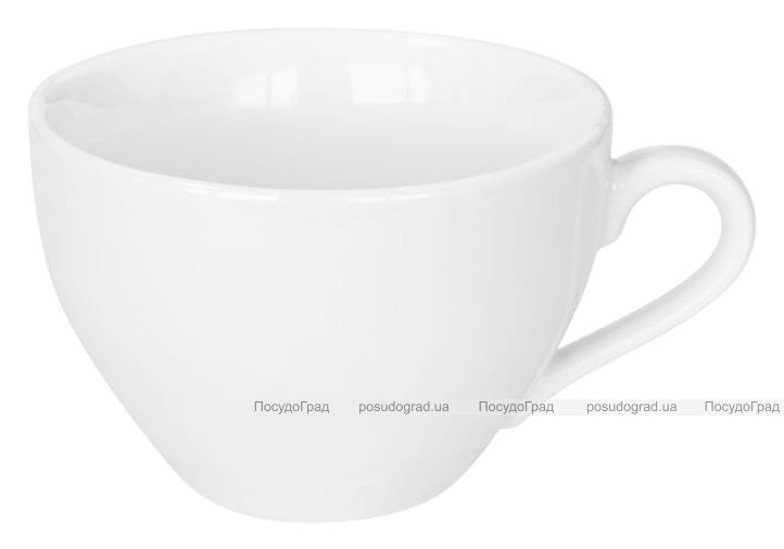Набор 6 чашек Helfer 130мл (Ø8х5.5см) белые, фарфор