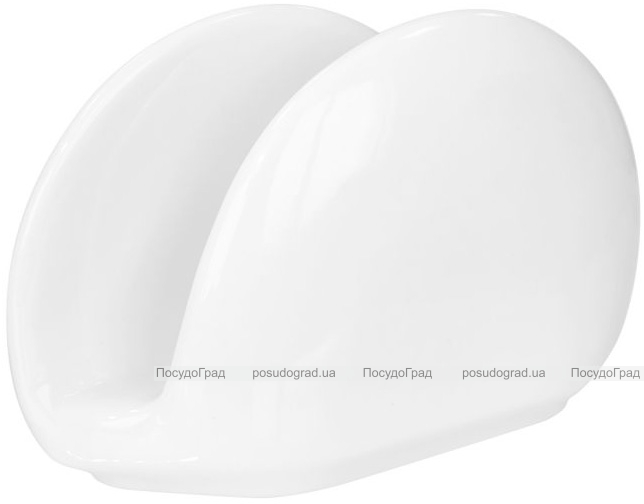 Набор 6 салфетниц Helfer 12х7см белые, фарфор