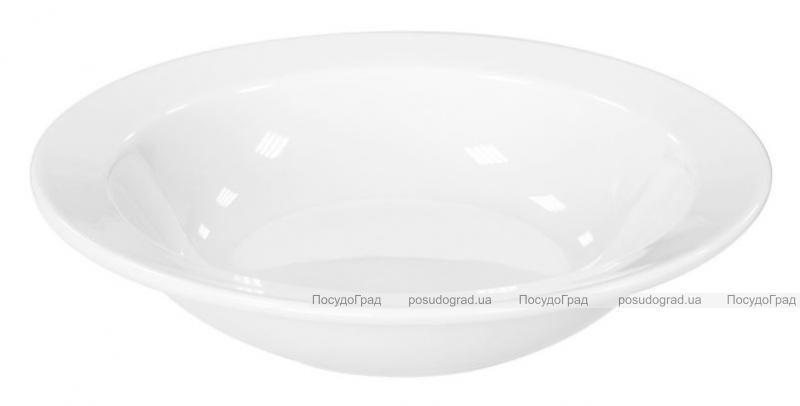 Набор 4 глубоких тарелок Helfer Ø20см белые, фарфор