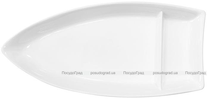 """Набор 2 сервировочных блюда """"Лодочка"""" Helfer 34.3см белые, фарфор"""