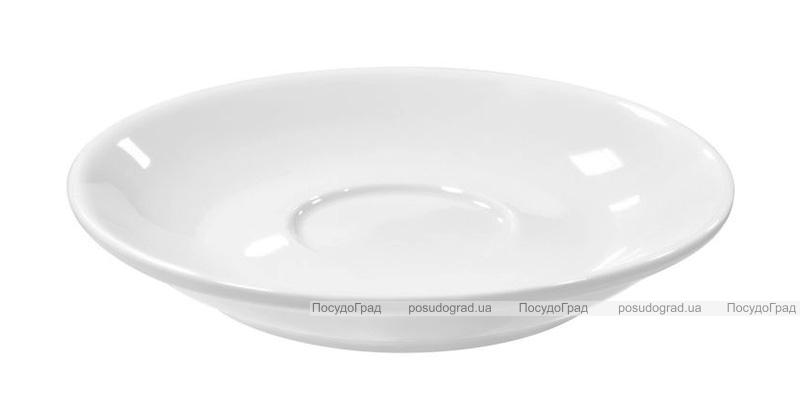 Набор 6 блюдец Helfer Baden Ø13.5см под чашку 150мл белые, фарфор