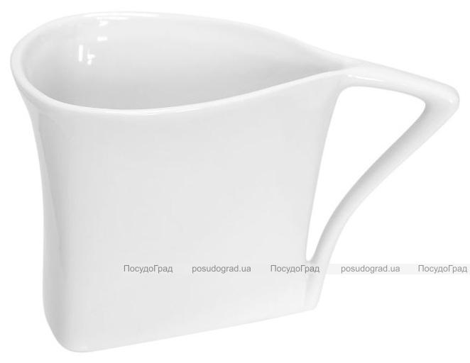 Набор 12 треугольных чашек Helfer 160мл белые, фарфор