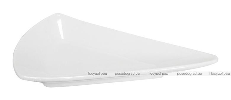 Набор 12 треугольных блюдец Helfer 7.5см белые, фарфор