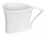 Набор 12 треугольных чашек Helfer 80мл белые, фарфор