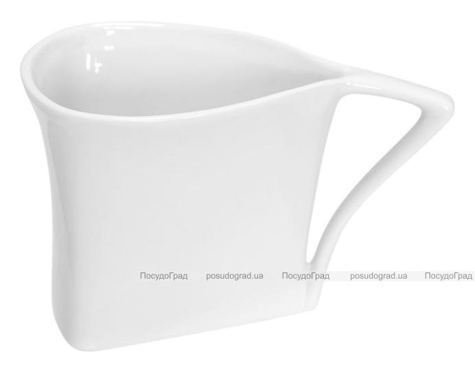 Набір 12 трикутних чашок Helfer 80мл білі, фарфор