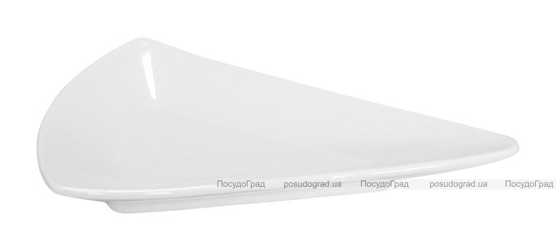 Набор 12 треугольных блюдец Helfer 5.5см белые, фарфор