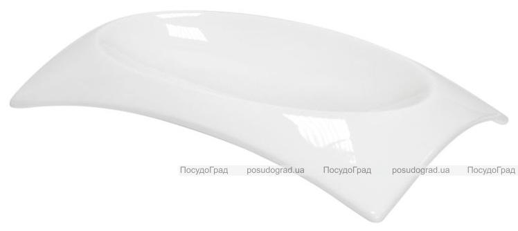 Набор 6 тарелок прямоугольных Helfer 20х12см белые, фарфор