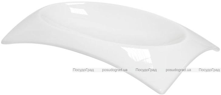 Набор 6 тарелок прямоугольных Helfer 23х15см белые, фарфор