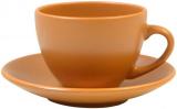 Чайная набор Keramia Терракота 6 чашек 205мл с блюдцем, керамика
