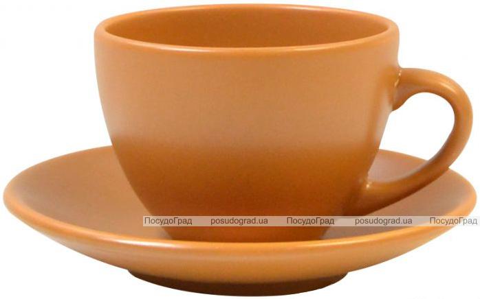 Чайна набір Keramia Теракота 6 чашок 205мл з блюдцем, кераміка