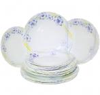 Набор Banquet Ameli Opal 18 стеклокерамических тарелок