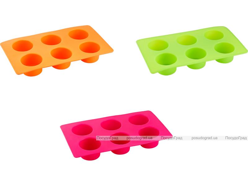 Силиконовая форма для выпечки Kaiserhoff 1151 6 кексов