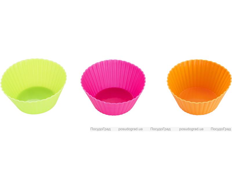 Силиконовые формы для выпечки Kaiserhoff 1179 6 круглых форм 70х45х34мм