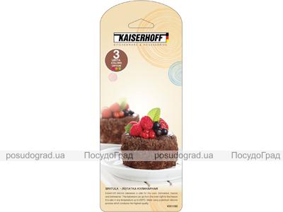 Лопатка кулинарная силиконовая Kaiserhoff 1198 цветная узкая
